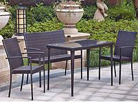 Комплект мебели из ротанга на 4 персоны NL-005N (h=120 см)