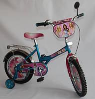 Велосипед Барби 16 дюймов BT-CB-0021 голубой с розовым, система - One piece crank