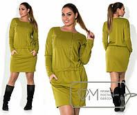 Повседневное платье в больших размерах (3 цвета) f-1515254