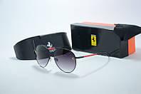 Солнцезащитные очки Ferrari черные с красным