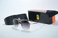 Солнцезащитные очки Ferrari золото с красным