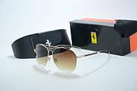 Солнцезащитные очки Ferrari коричневые