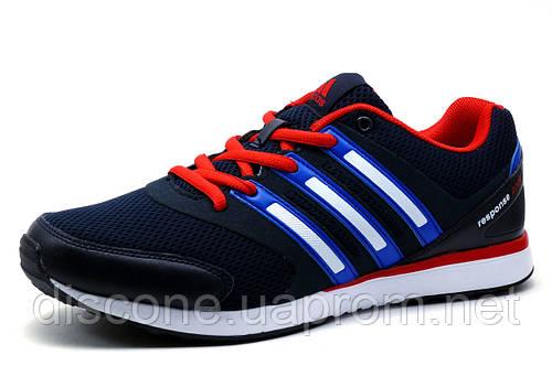 Мужские кроссовки  Adidas Responce Boost, темно-синие