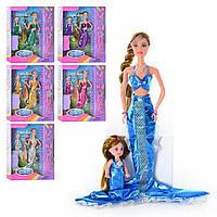 Кукла DEFA русалка с ребенком 27см 20978