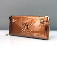 Клатч лаковый женский бронзовый Сhanel 840-1