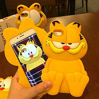 Силиконовый чехол Гарфилд для iPhone 6 plus, Винница