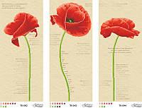 Схема для вышивки бисером Красные маки