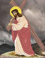 Иисус несет крест. Икона для вышивки бисером.