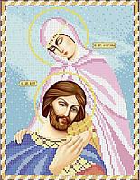 Ікона Петро и Февронія. Основа для вишивки бісером