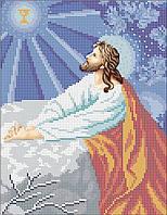 Ісус на оливковій горі. Канва для вишивки бісером