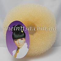 """Валик-бублик для прически """"Бабетта"""" (гулька), 11см, цвет белый"""