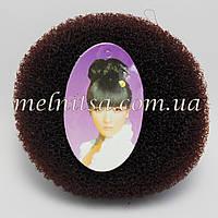 """Валик-бублик для прически """"Бабетта"""" (гулька), 11см, цвет коричневый"""