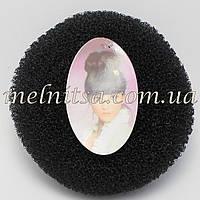 """Валик-бублик для прически """"Бабетта"""" (гулька), 11см, цвет черный"""