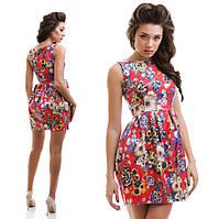 И1852 Платье жакард в расцветках