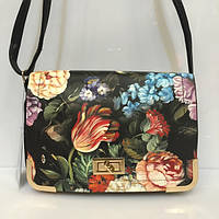 Женская сумка клатч 947 с цветочным принтом