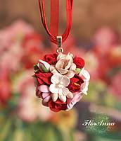 """""""Цветочный рай"""" авторский кулон/колье с цветами ручной работы. Подарок на 8 марта"""