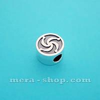 Символ Рода бусина-оберег из серебра