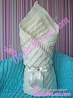 Демисезонный конверт - плед для новорожденных на подкладке