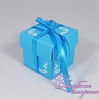 Бонбоньерка для конфет голубого цвета