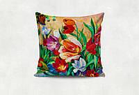 Подарочная подушка на 8 марта цветы