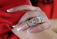 Кольцо на весь палец (серебро)