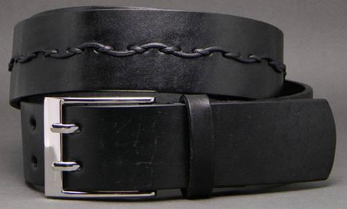 Оригинальный женский ремень из натуральной кожи Вьюн 4 см Svetlana Zubko S40103-2 черный