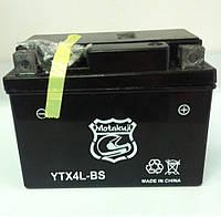 АКБ Motakuji YTX4L-BS AGM   гелевый (черный)   113 x 70 x 85
