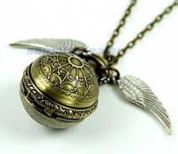 """Винтажные часы-кулон """"Крылья ангела"""" на цепи"""