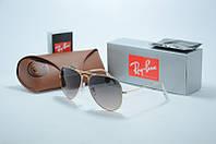 Солнцезащитные очки Ray Ban черные с золотом