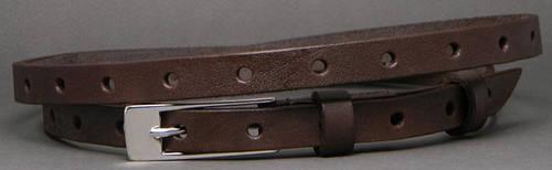 Узкий женский ремень из натуральной кожи Анри 1,5 см Svetlana Zubko 2F15211 коричневый