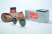 Солнцезащитные очки Ray Ban Round Metal синие линзы