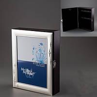 Ключница настенная с рамкой для фотографий на 6 ключей (2 вида)