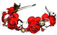 Обруч на голову из цветов