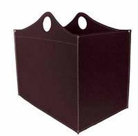 Сумка для дров кожа WoodBag черная