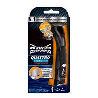 Wilkinson Sword (Schick) Quattro Titanium Precision мужской станок для бритья (1 картридж)