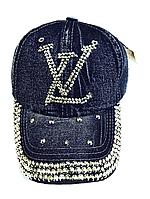 Бейсболка женская  джинсовая LV