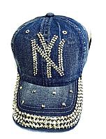 Бейсболка женская  джинсовая NY