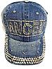 Бейсболка женская  джинсовая ANGEL