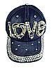Бейсболка женская  джинсовая LOVE