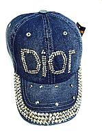 Бейсболка женская  джинсовая DIOR