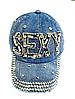 Бейсболка женская  джинсовая SEXY