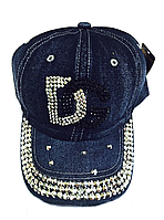 Бейсболка женская  джинсовая