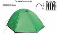 Палатка 3-х местная SY-007 (р-р 2,0х2,0х1,35м)