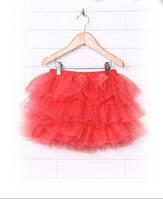Детская юбка нарядная для девочки р.104-134