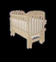 """Дитяче ліжко-колиска """"TEDDY УМК"""" (Натуральне)"""