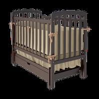 """Дитяче ліжко-колиска """"TEDDY"""" (Шоколад)"""