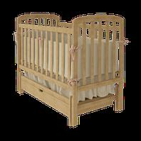 """Дитяче ліжко-колиска """"TEDDY"""" (Натуральне)"""