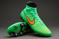 Бутсы  Nike Magista Obra SG-Pro 641325-380 Зеленые найк магиста