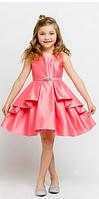 Красивое выпускное платье из атласа 2-13 лет (5 цветов)