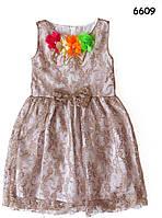 Гипюровое платье для девочки. 5, 6, 8 лет